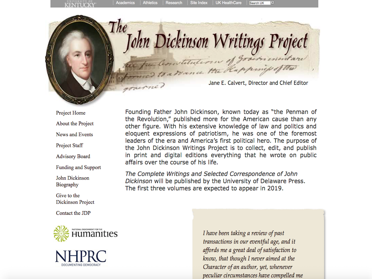 John Dickinson Writings Project